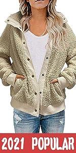 Button Down Sherpa Jacket