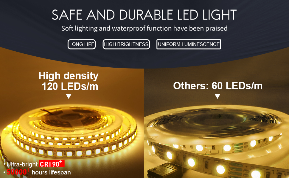 Led mirror lamp with life