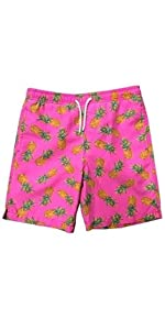 This boys swim trunk features elastic waistband. durable amp; comfortable. Quick dry fabric UPF 50+