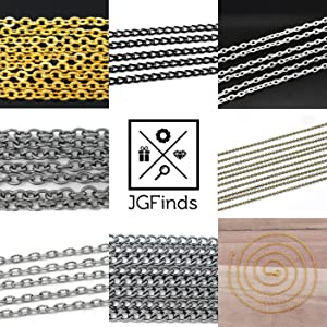 JGFinds gold silver black chains