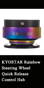 Kyostar rainbow steering wheel quick release control hub