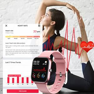 Fitness Tracker with 24/7 Heart Rate Monitor smart watch