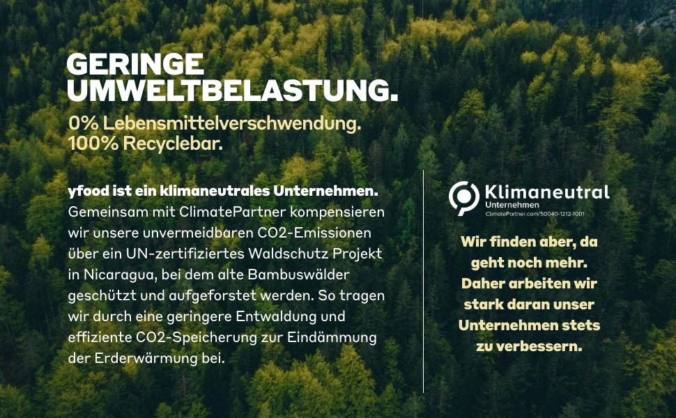 Geringe Umweltbelastung.