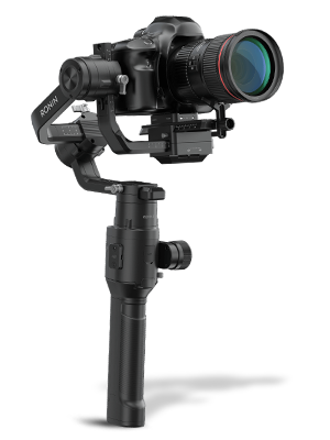 Camera mounted on DJI Ronin-S Stabilizer