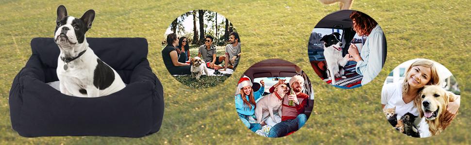 Dog Car Seat Pet Booster Seat Pet Travel Safety Car Seat