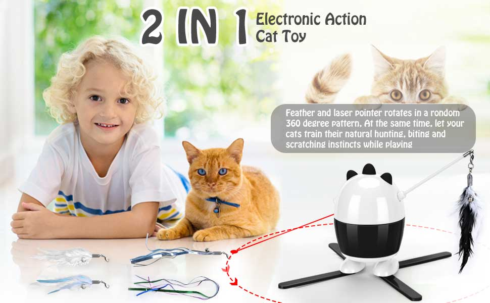 1.top cat feather toys