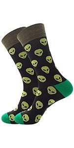 Fun Alien Casual Socks Men