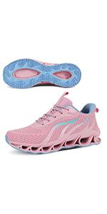 pink women running shoes