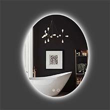 oval backlit bathroom mirror
