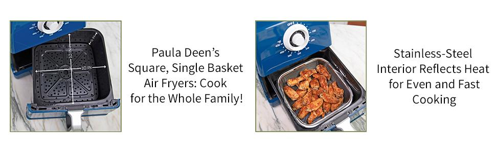 Paula Deen 8.5QT Air Fryer with Large Capacity and Heat-Reflecting Interior