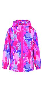 Girls Waterproof windbreaker jacket
