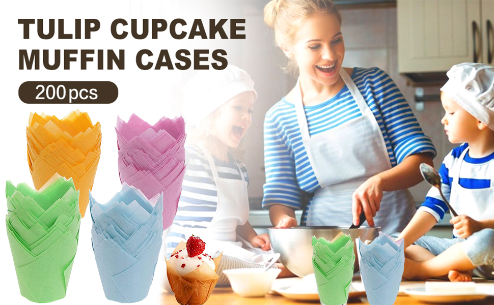 tulip cupcake papers baking cups