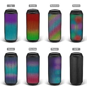 7 style LED light patterns