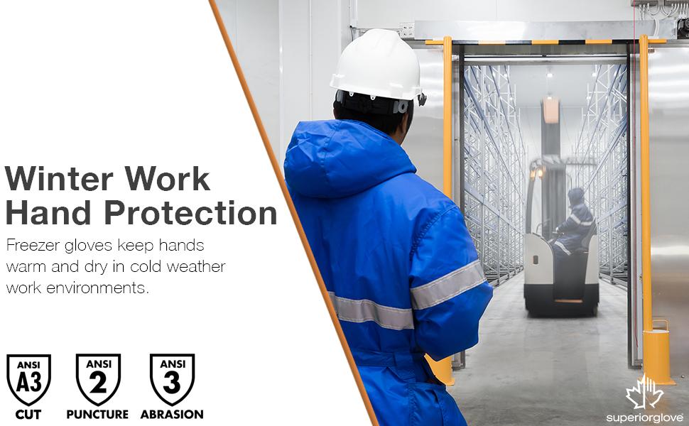 cold storage gloves freezer industrial restaurant frozen insulated fleece lined comfortable