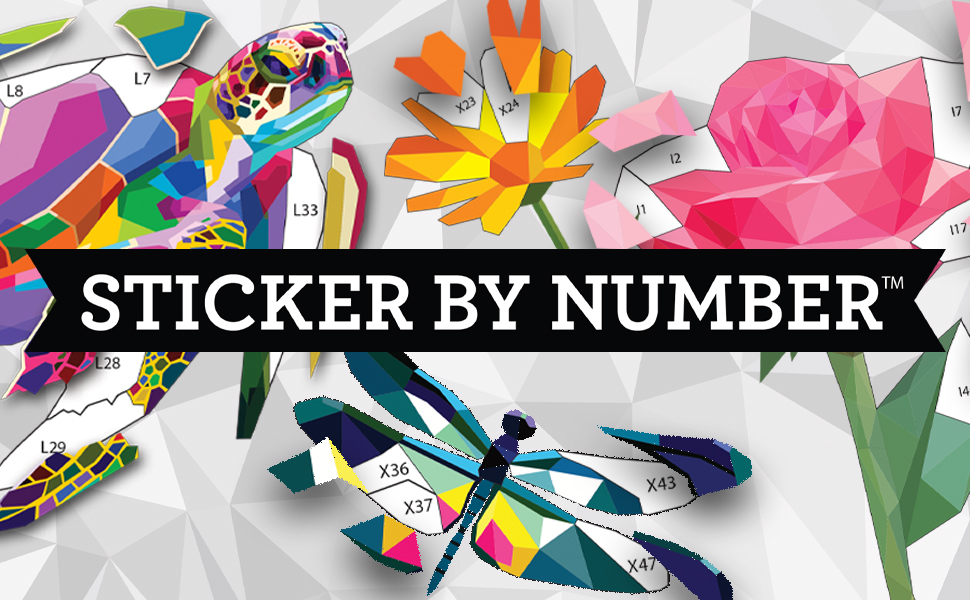 sticker by number banner