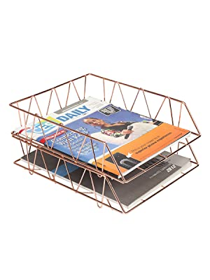 desk tray,gold desk,rose gold desk organizer,rose gold office decor,paper holder for desk,paper tray