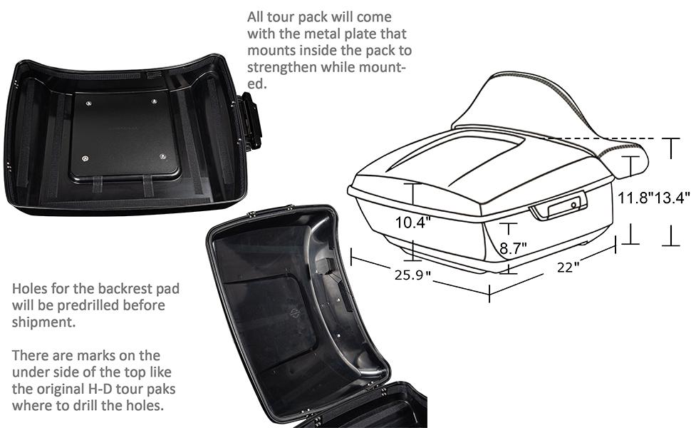 tour pack inner
