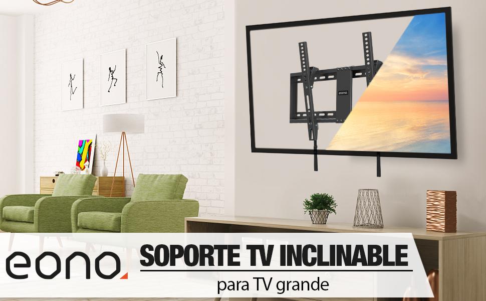 Soporte TV 65 de pared inclinable 65 pulgadas Soporte TV 60 pulgadas Soporte TV vesa 600x400