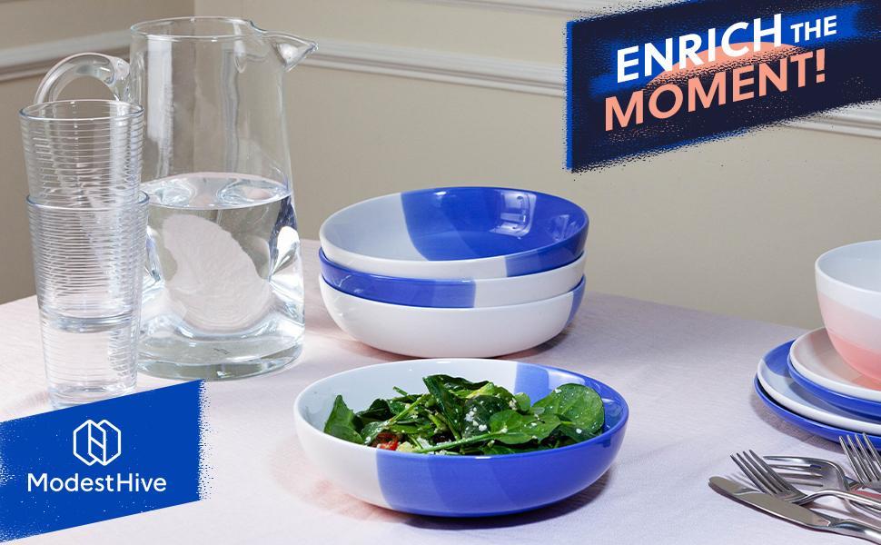 Ombre Pasta Bowl, ModestHive Dinnerware, ModestHive Pasta Bowls, Salad Bowls, Ombre Collection