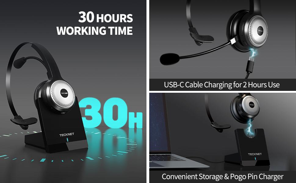 30 hours working time headphone