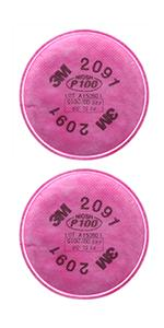 3M P100 Respirator Filter 2091, Helps Oil Non-Oil Based Particulates, Lead, Asbestos, Arsenic, MDA
