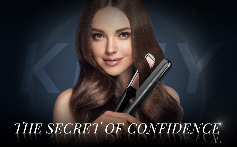Kibiy hair straightener and curler 2 in 1 : the secret of confidence