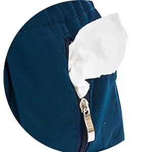 Zipper Side Pocket