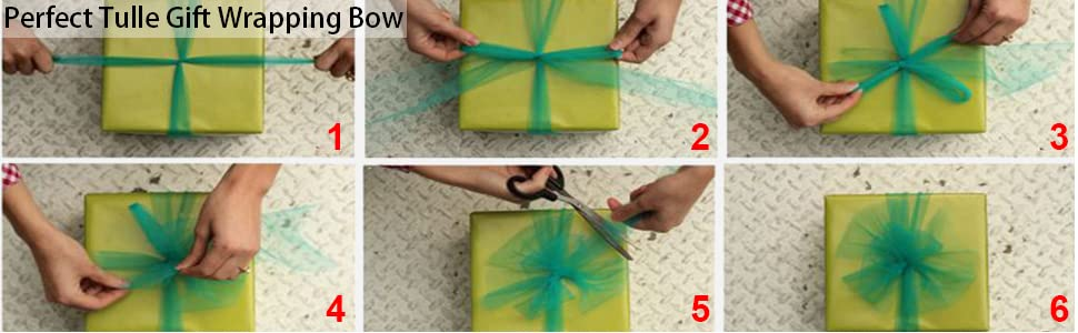 Perfect Tulle Gift Wrapping Bow
