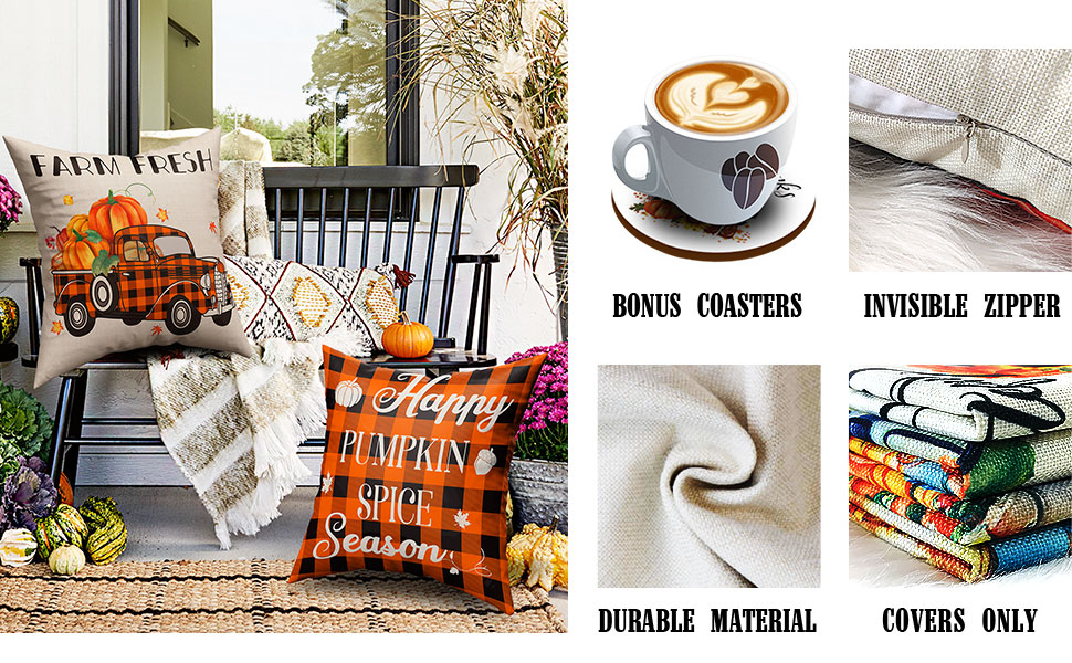 18x18 fall pillow covers