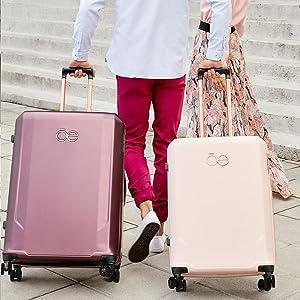 CLOE, Quality, luggage rose gold, us traveler luggage, luggage sets pink, luggage sets, best luggage
