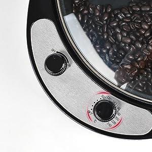 0-240℃ Temperature adjustment, flexible choice of coffee roasting level.