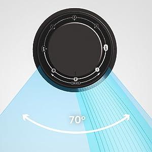 Probreeze ventilateur colonne bureau puissant compact portable noir
