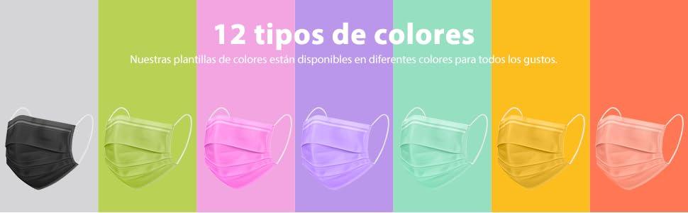 12 tipos de colores