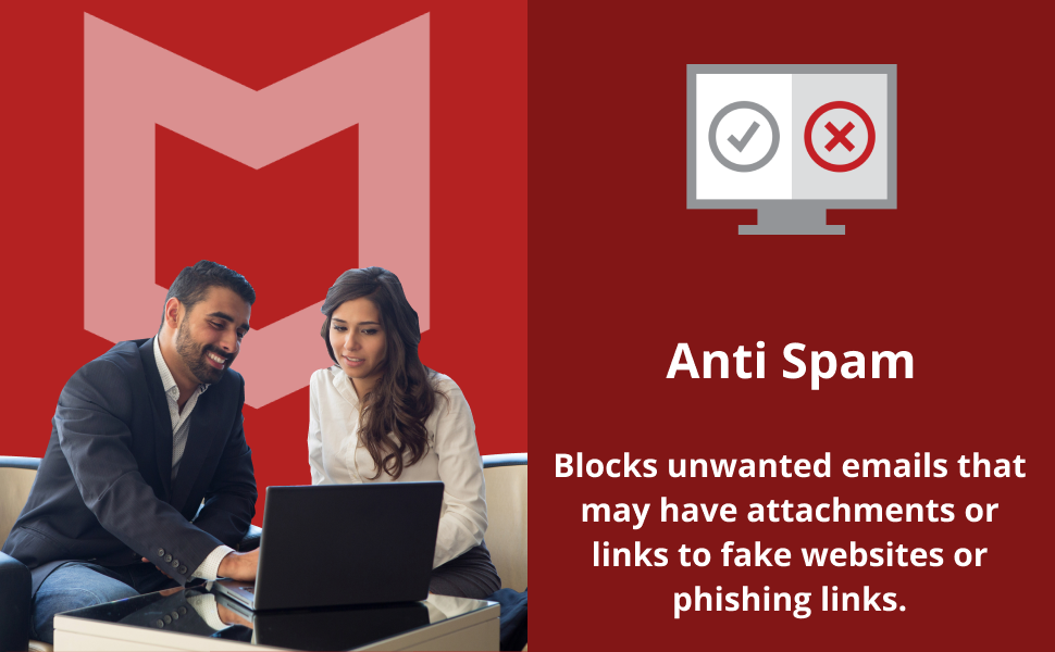 McAfee total protection antivirus software, Anti spam feature