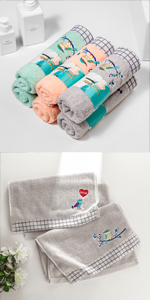 grey hand towels