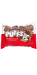 Stuffed Puffs Chocolate-on-Chocolate