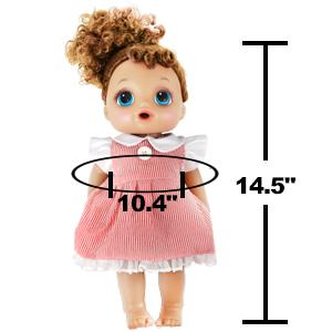 14 inch alive baby doll