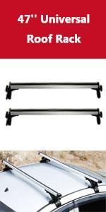 ALAVENTE Universal 47 inch Roof Rack 150lbs Aluminum Alloy Crossbars Luggage Cargo Bar