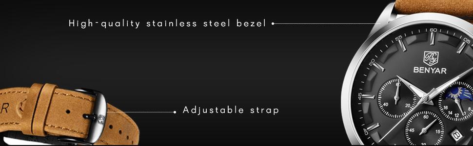Men's stainless steel watch