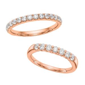Diamond Band Rings Rose Gold