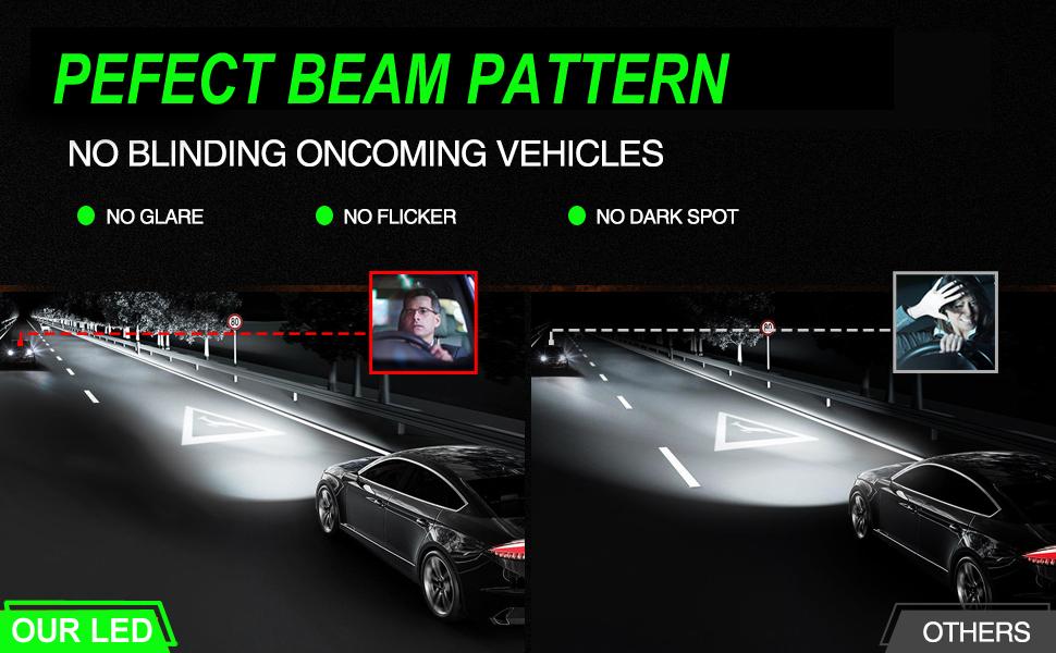 9005 HB3 H11 H16 LED Headlight Kit Hi-Lo Beam Fog Light FOR Toyota Camry 2014-07