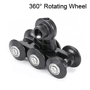 360 degree rotating wheel