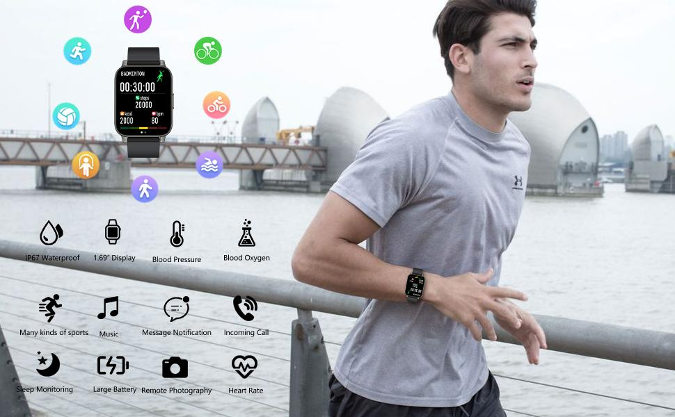 Smart Watch, Smartwatches for Android Phones iOS Waterproof
