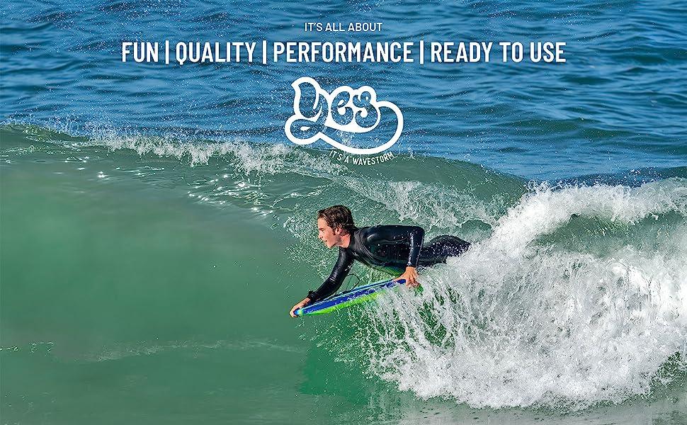 Wavestorm 40in CCBB Bodyboard 2-pack - Current (Green) - fun, quality, performance, surf, kids
