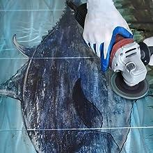 hand-crafted tuna metal art