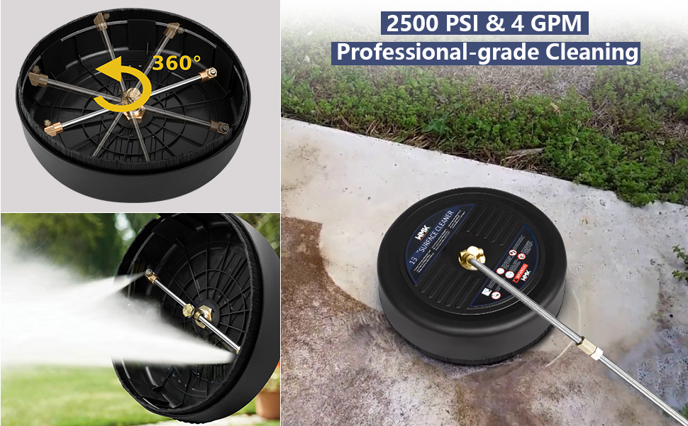 3600PSI & 4 GPM Professional -grade Cleaning