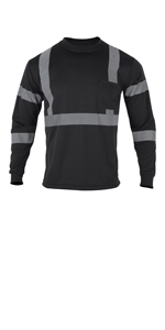black safety shirts for men long sleeve