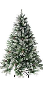7' Flocked Angel Pine Artificial Christmas Tree - Unlit