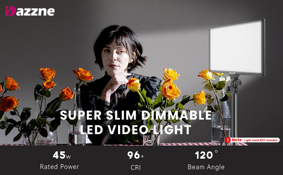 DAZZNE SUPER SLIM DIMMABLE LED VIDEO LIGHT