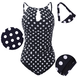 One-piece swimsuit 3D detail display